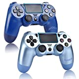2 Pack Controller for PS4,Wireless Controller for Playstation 4 with Dual Vibration Game Joystick (Midnight Blue)