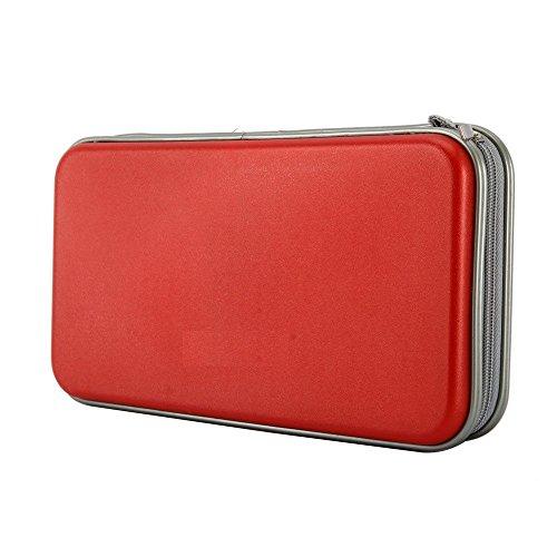 Portable Plastic 80 Disc CD DVD Wallet Storage Organizer Bag Case Red
