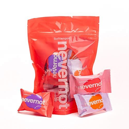 NeverNot® Softtampons: Menstruationsschwämmchen ohne Rückholfaden für SEX, SPORT & SPA (6 Stück)