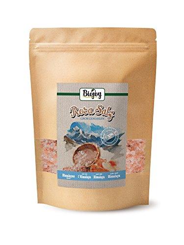 Biojoy Rosa Salz - bekannt als Himalaya Salz, grob 2-5mm für Salzmühle (1 kg)