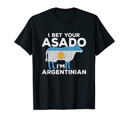You Bet Your Asado I'm Argentinian Funny BBQ Beef diseño Camiseta