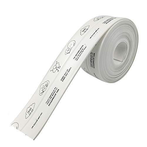 台所コーナーテープ 補修テープ 隙間テープ 強粘着 耐熱 アクリル PVC 防水 防カビ 防油 防汚 洗濯可能 多機能 キッチン バスルーム 浴槽まわり ベランダ 洗面台用 幅3.8cm*長さ3.2m (1ポリライン・漫画のパターン)