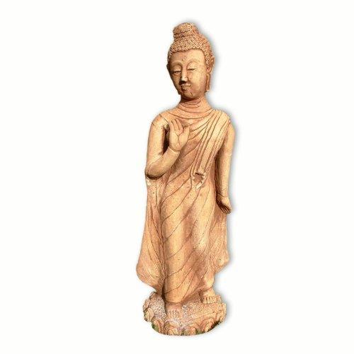 Bouddha debout jaune-rouge (10212)