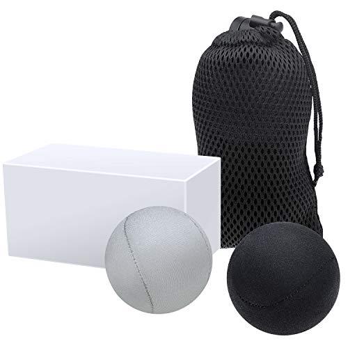 2 Stück Antistress Bälle (Weich und Hart), Anti Stressballe mit Netztasche, Handtrainer, Knetball, Fingergymnastik-Ball für Traditionelle und Kinder zur Förderung bei Stressabbau und Angstzustände