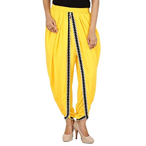 Yellow Color Rayon Dhoti Trouser, Dhoti Pant, Dhoti Salwar, Patiala Dhoti Pant