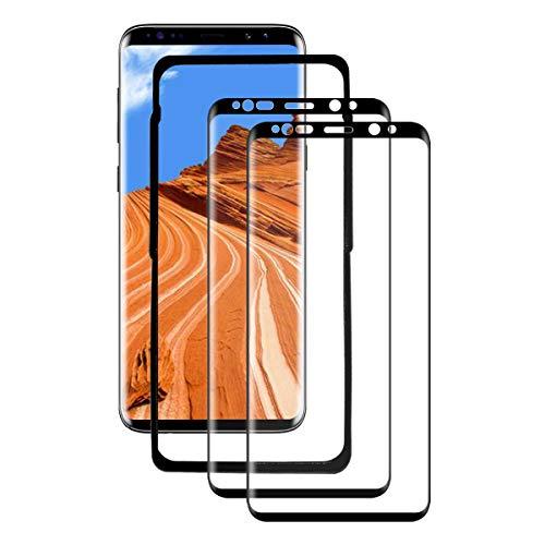 CHENXX [2 Pezzi] Vetro Temperato per Samsung Galaxy S9 Plus, Pellicola Protettiva 3D Copertura Completa, HD Chiaro, Anti-Graffi, 9H Durezza, Senza Bolle