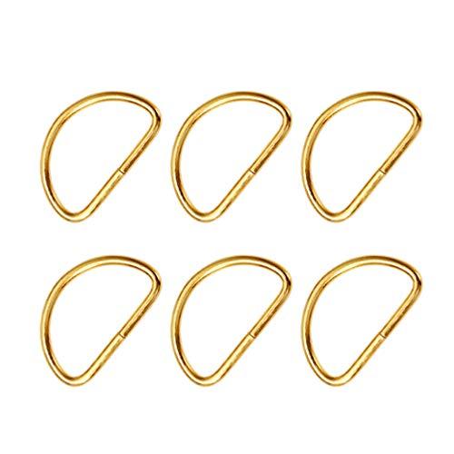 FOMIYES 20 Piezas Metal D Anillo Hebilla Correa Semi Circular D Anillo en Forma de D Clip Sujetadores para DIY Bolso Mochilas Cinturones Mascotas Collares Manualidades