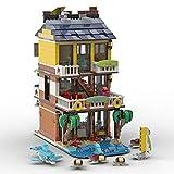 SESAY MOC-68006 - Juego de construcción de 1085 piezas Modular Tiki Surf Bar Arquitectura Modelo compatible con Lego