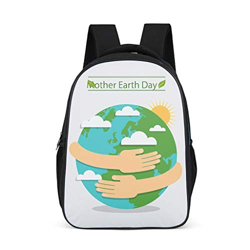 Protect The Earth Adult's School Bags Classic All Over Print for Student form grey onesize