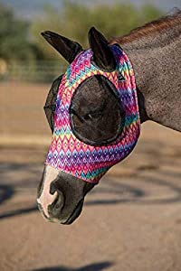 Professional's Choice Comfort Fit Lycra Fly Mask Ears Prints