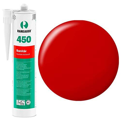 Ramsauer 450 1K Silikon Dichtstoff 310ml Kartusche (Feuerrot)
