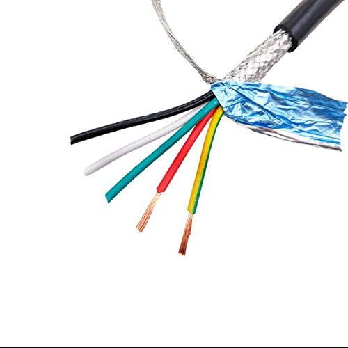 Cable blindado de varios núcleos RVVP20AWG 0,5 mm2 3 4 5 6 8 10 12 14 16 20 24 hilos de señal de control antiinterferente de núcleo