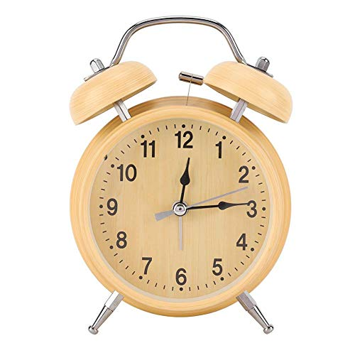 Alarm Clock Retro Mechanical Manual Wind Up Metal Clock Double Twin Bell Clock...