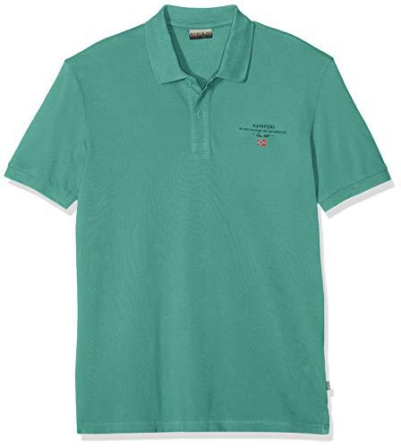 Napapijri Herren Elbas 2 Poloshirt, Grün (Alhambra Green Ge2), Large (Herstellergröße: L)