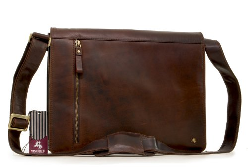Borsa Messenger Visconti in pelle Midi A4 Notebook/Kindle/ipad/ipod - ML23 - Marrone