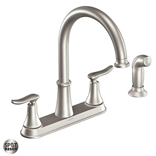Moen CA87015SRS High-Arc Kitchen Faucet with Side Spray from the Solidad Collection, Spot Resist Stainless