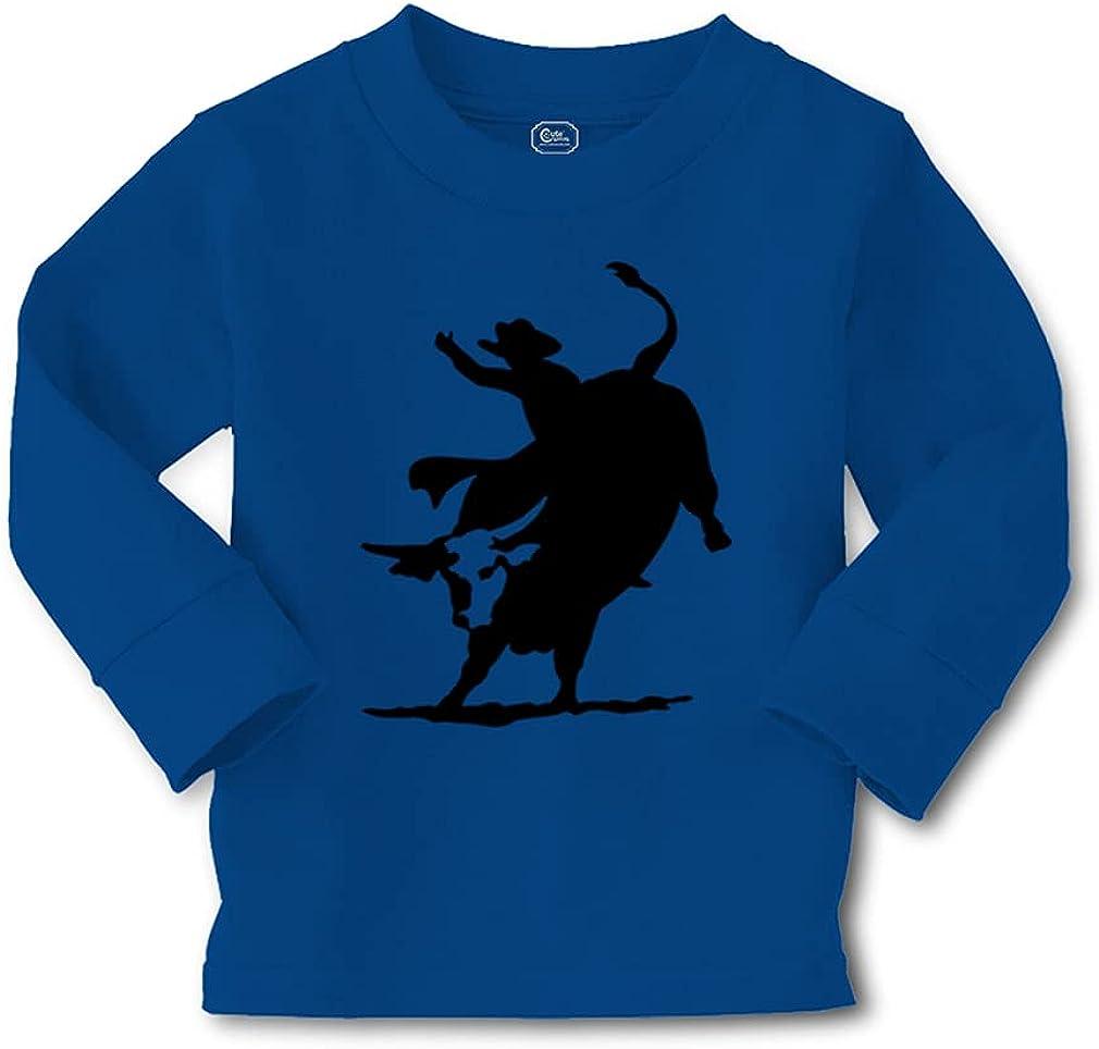 Kids Long Sleeve T Shirt Rodeo Cowboy Bull Riding Cotton Boy & Girl Clothes