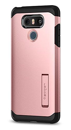 Spigen LG G6 Hülle, [Tough Armor] Extrem Fallschutz Doppelte Schutzschicht Stoßabweisende Schutzhülle für LG G6 Case Cover Rose Gold (A21CS21365)