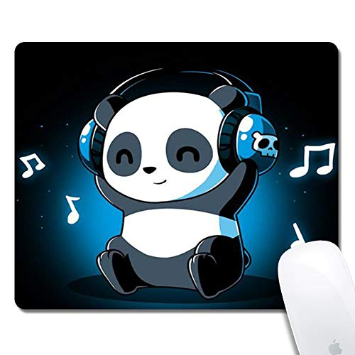 Galdas Mouse Pad Rectangle Mousepad Non Slip Rubber Gaming Mouse Pad Cute Mouse Pads for Computers Laptop Mouse Pads for Kids (Panda)