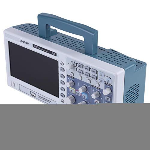 Osciloscopio digital, osciloscopio de 100 Mhz, anchos de banda de 100 Mhz 7 pulgadas 2 canales para una longitud de registro de hasta 40K Pc Análisis en tiempo real