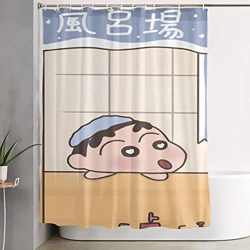 N / A Hochwertiger Wachsmalstift Shin-Chan Duschvorhang Druck Kinder Jugend Wasserdicht Duschvorhang Badezimmer Familiendekoration Duschvorhang-B150cmxH180cm