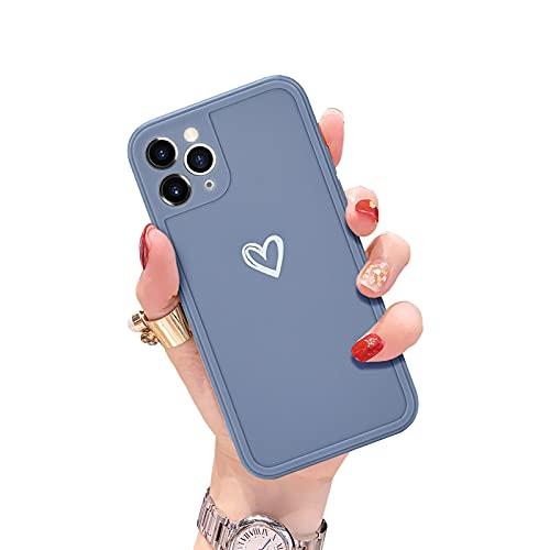 Newseego Compatibile per iPhone 11 Pro Custodia,Carino Heart iPhone 11 Pro Custodia Morbido TPU iPhone 11 Pro Cover per Cellulare per Donne Protettivo Custodia in Antiurto Sottile iPhone 11 Pro-Grigio