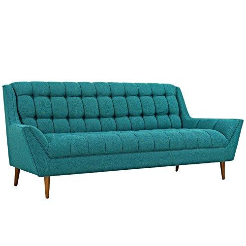 Modway EEI-1788-TEA Response Upholstered Fabric, Sofa, Teal