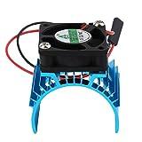 ankunlunbai - Cubierta de fregadero para motor eléctrico de radiador y ventilador de refrigeración de aluminio 550 540 3650 Tamaño para motor eléctrico RC HSP