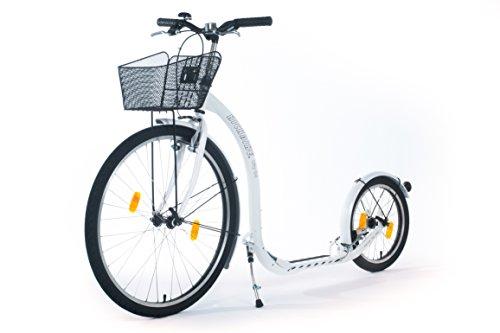 Kickbike City G4 - Tretroller für Erwachsene - Scooter Cityroller Finnscoot (perlweiß)