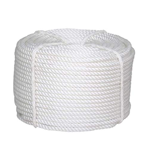 Cotton Rope 22/24/26 Three-Strand Braided Rope Used for Garden Bundling Handmade Projects Camping Survival 10M,24mm