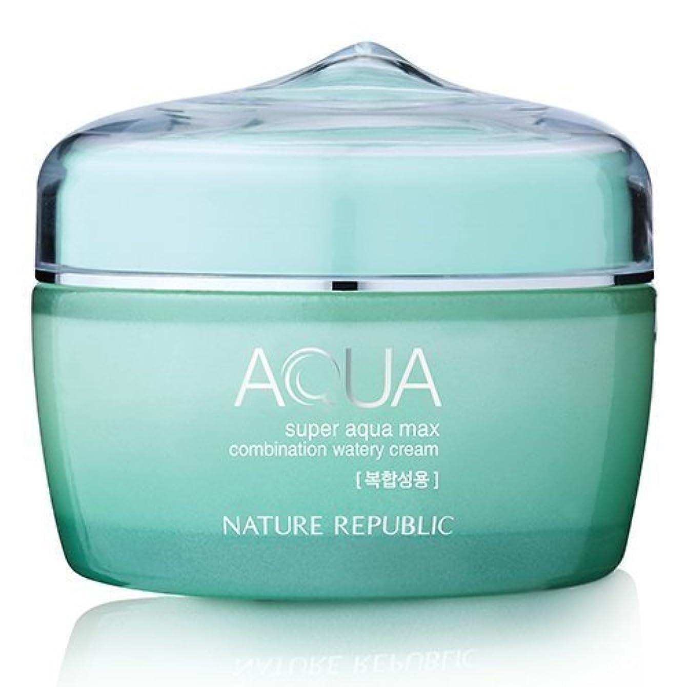 ボリューム試用純正Nature Republic Super Aqua Max Combination Watery Cream 80ml