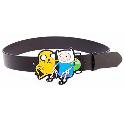 Adventure Time Black Belt With Jake & Finn 2D Buckle, Medium