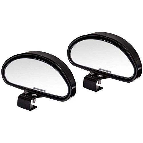 WildAuto Blind Spot Mirrors, Adjustable Car Auxiliary Universal Wide Angle Mirror for Universal Cars (Black-2pcs)
