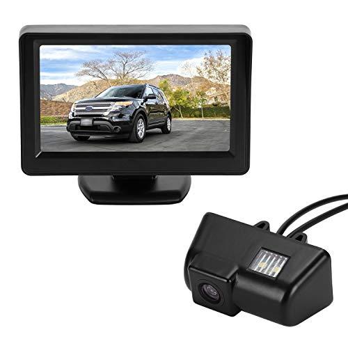 Cámara de marcha atrás, sistema de visión trasera para coche, líneas de distancia, luz de matrícula, pantalla LCD TFT de 4,3 pulgadas, para Ford Transit MK6/MK7 Transporter