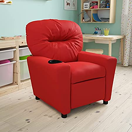 Flash Furniture Contemporary Red Vinyl Kids