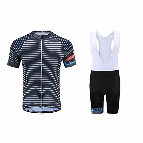 Uglyfrog Erwachsene Herren Radtrikot Trikot Bike-T Full Zip Top+Trägerhosen Cycling Sets Bib Shorts with Gel Pad Sommer Anzüge