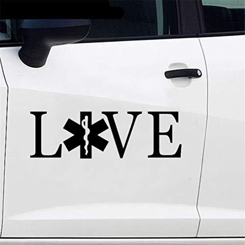 Auto Styling Liebe Aufkleber Rettungssanitäter Krankenwagen Auto Autoaufkleber für Auto Laptop Fenster Aufkleber
