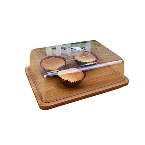 Soporte de pastel, Rectangular placa de la torta, el hotel Snack Food Restaurant Cata bandeja de plástico cubierta de polvo de queso sándwich de hamburguesa Cúpula Chip & Dip servidor de la torta Sopo