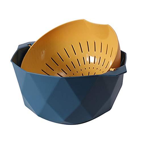 Yagoal Colino Bacinella Pieghevole Campeggio Sink Cestello Filtro da Cucina Gadget da Cucina per La Cottura Piccolo Colino Blue,Medium