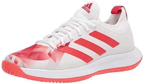 adidas Women's Defiant Generation Tennis Shoe, White/Red/Red, 5.5 UK