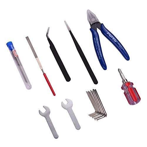 Accesorios de impresora Herramientas de limpieza de boquillas, 25 piezas Kit de extracción de herramientas de modelo de impresora 3D Destornillador + Lima + Aguja de limpieza + Llaves + Pinzas + Alica