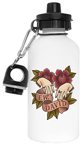 Ew David Botella de Agua Blanco Aluminio Reutilizable Water Bottle White Aluminium Reusable