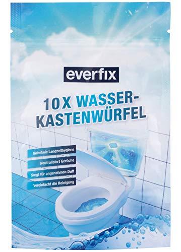 Everfix Wasserkastenwürfel (10 Stück) WC Tabs für Spülkasten und Wasserkasten, Reinigungswürfel für die Toilette