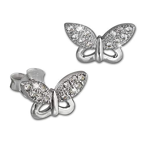 Orecchini donna in argento a forma di farfalla bianco{925} SilberDream orecchini in argento Sterling GSO2903J