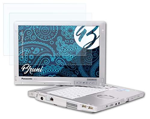 Bruni Schutzfolie kompatibel mit Panasonic ToughBook CF-C1 Folie, glasklare Bildschirmschutzfolie (2X)