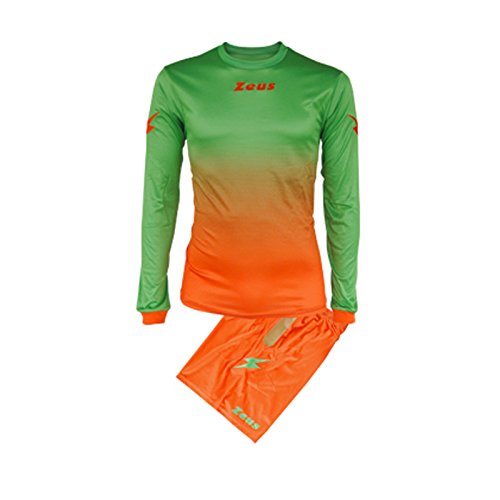 Zeus Kit Eros Homme Equipment Football à cinq Maillot Short Pour Football Orange Vert (XL)
