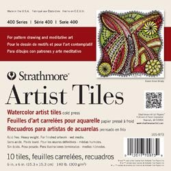 Strathmore (2-Pack) Artist Tiles 6 inch x 6 inch 10 Pack Watercolor 62105973