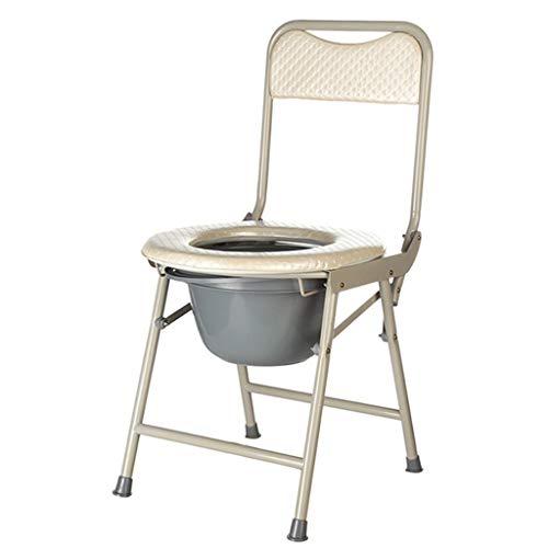 Tragbarer Toilettenstuhl Extra breiter ergonomischer Sitz Wasserdicht Fett Stahlrohr Mobiler Badstuhl Sicherheitsrahmen