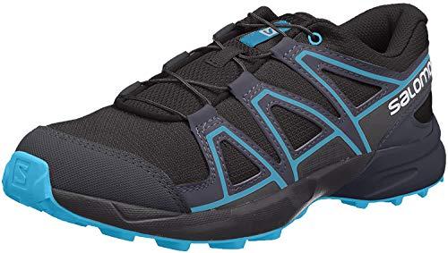 Salomon Kinder Trail Running Schuhe, SPEEDCROSS J, Farbe: schwarz/blau (Black/Graphite/Hawaiian Surf), Größe: EU 35
