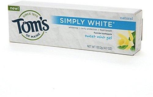 Simply White Toothpaste Sweet Mint Gel, Sweet Mint Gel 4.7 oz (Pack of 2)
